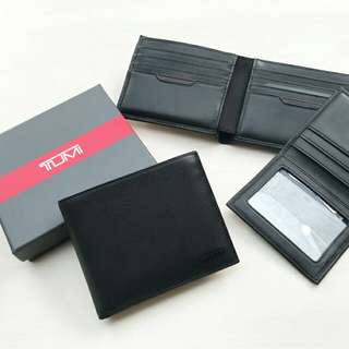 TUMI WALLET -BLACK, LEATHER
