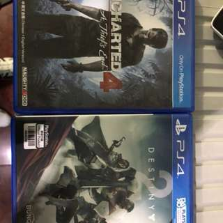 Destiny 2 and Uncharted 4