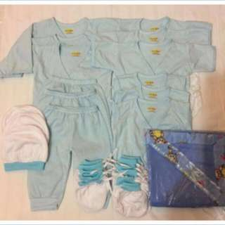 New born baby clothes colored blue