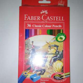 SEALED, BRAND NEW Faber Castell 36 Classic Colour Pencils