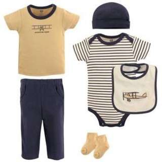 *New* LAYETTE CLOTHING 6-PIECE SET, AIRPLANE