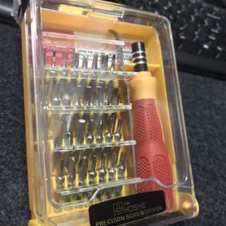 Tools set screwdriver