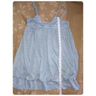 Gray Spaghetti Strap Mini Dress