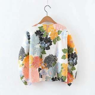 Inspired Zara Lantern Floral Top