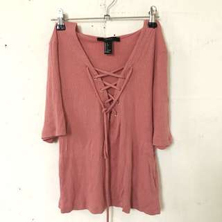 Forever21 Pink sexy blouse
