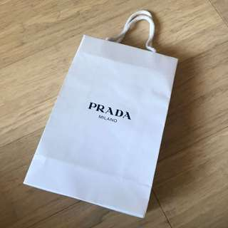 PRADA empty shopping bag (originally for packaged sunglasses)