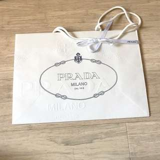 PRADA empty shopping bag (originally for packaged clutch)