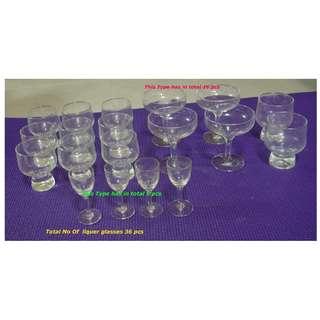 36 Liquer Glasses each $1