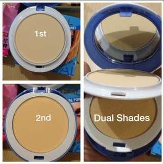 Dual shade powder