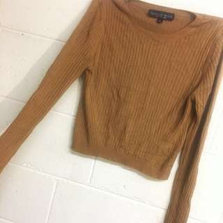 TOPSHOP Caramel Sweater Top