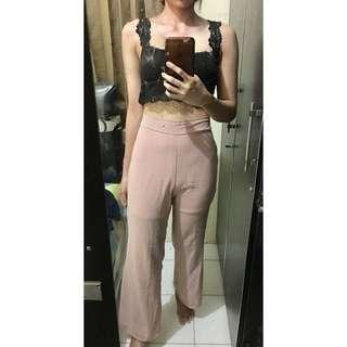 Celana cutbray pink bahan jatuh halus lembut #awaltahun