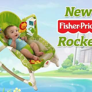 🔥RS🔥FISHER PRICE RAINFOREST FRIENDS INFANT-TO-TODDLER ROCKER🔥