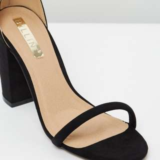 Black Billini block heel size 7/38
