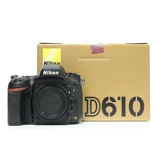 Nikon D610 Body Only (SC 3K+)