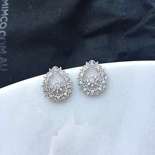 SNOWFLAKE Design Earrings with Swarovski Crystals