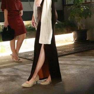 Dress long gaun panjang buludru ! Suede kondangan ultah
