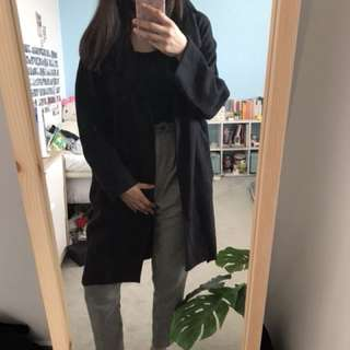 Topshop Oversized Black Coat
