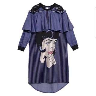 Cryin women dress import size m-l
