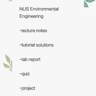 NUS environmental engineering