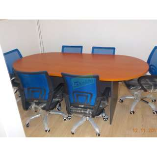 OVAL CONFERENCE TABLE TWO TONE--KHOMI