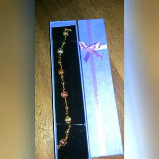 Rosegold bracelet with ornament & box