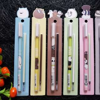 WE BARE BEARS GEL PEN WITH REFILL