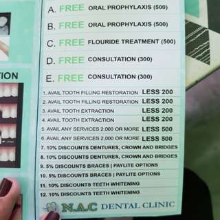 NAC Dental Coupons Malolos/Balagtas