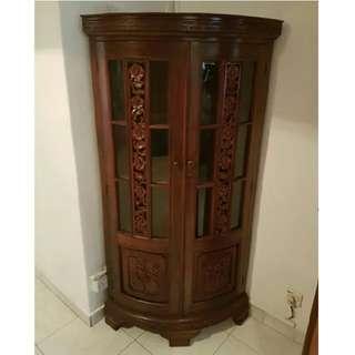 Antique Rosewood corner cabinet