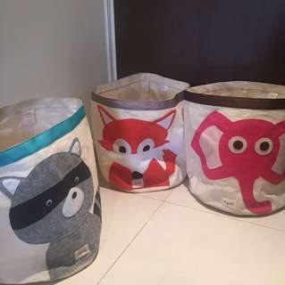 3 x 3 sprouts toy storage bin in bundle