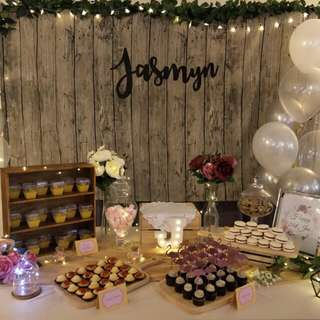 Dessert table - Rustic / Calligraphy