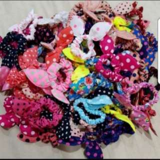 10pcs Bunny Hair Tie Grab