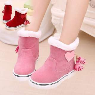 🌸NEW WINTER WARM KIDS GIRLS FLEECE SNOW BOOTS ANKLE NON-SLIP SWEET TODDLERS🌸