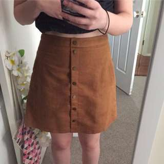Front button mini skirt