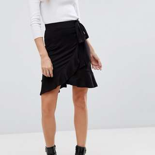 Bardot Wrap Ruffle Skirt