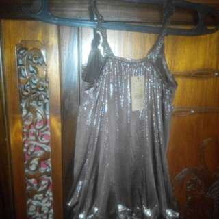 Tank top coklat glow in the dark
