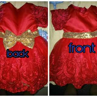 Princess Party Dress (Red)