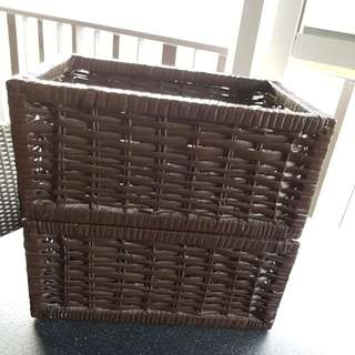 Dark brown baskets