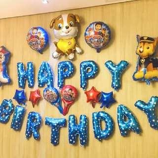 Paw Patrol Happy Birthday 汪汪隊立氣球套裝