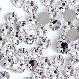 Fast Selling! Round. Iron-On Flat-Back Rhinestones/Beads. Hot-Fix!