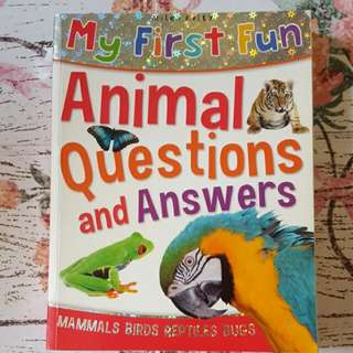 My First Fun Animal Questions And Answers Book Miles Kelly Mammals Birds Reptiles Bugs