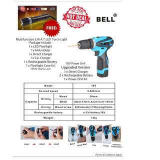 Bell 18V Battery Drill + Free Delivery