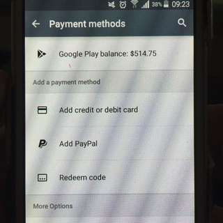 Sell Google play account with $523 balance