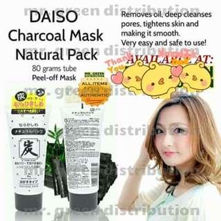 Daiso charcoal mash natural pack