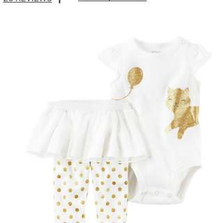 2 pc carters tutu pants and body suit