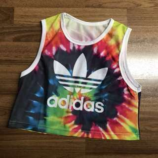 Fashion top tye dye adidas
