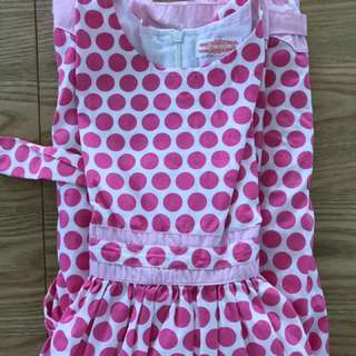 BN sweet pink polka dot dress for girls