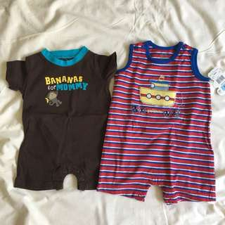 Lot of 2 Bodysuits 3-6Months