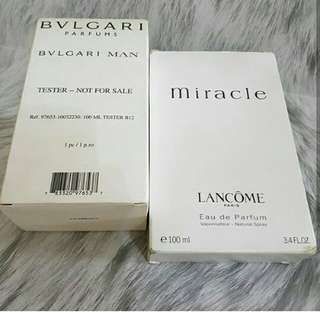 Bvl man lancome miracle with box tester