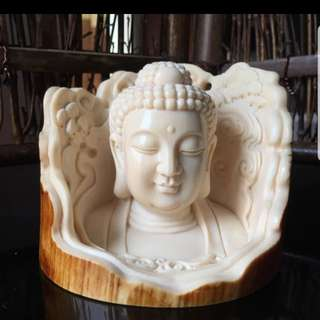 (Certified) 3D Ivory Buddha Craving