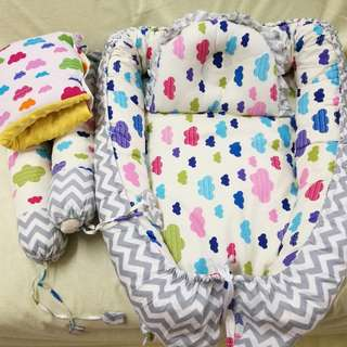 Preloved Cute Tilam Bayi Babynest With Nursing Arm Pillow